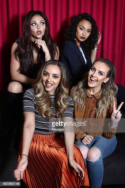 Jesy Nelson LeighAnne Pinnock Jade Thirlwall and Perrie Edwards of British girl group 'Little Mix' pose during a photo shoot in Sydney New South Wales