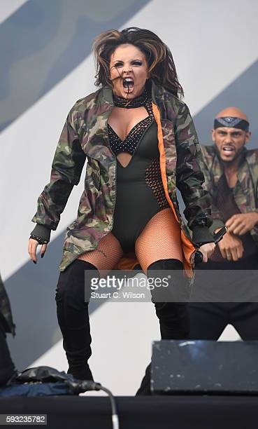 Jesy Nelson of 'Little Mix' performs during the V Festival at Hylands Park on August 20 2016 in Chelmsford England