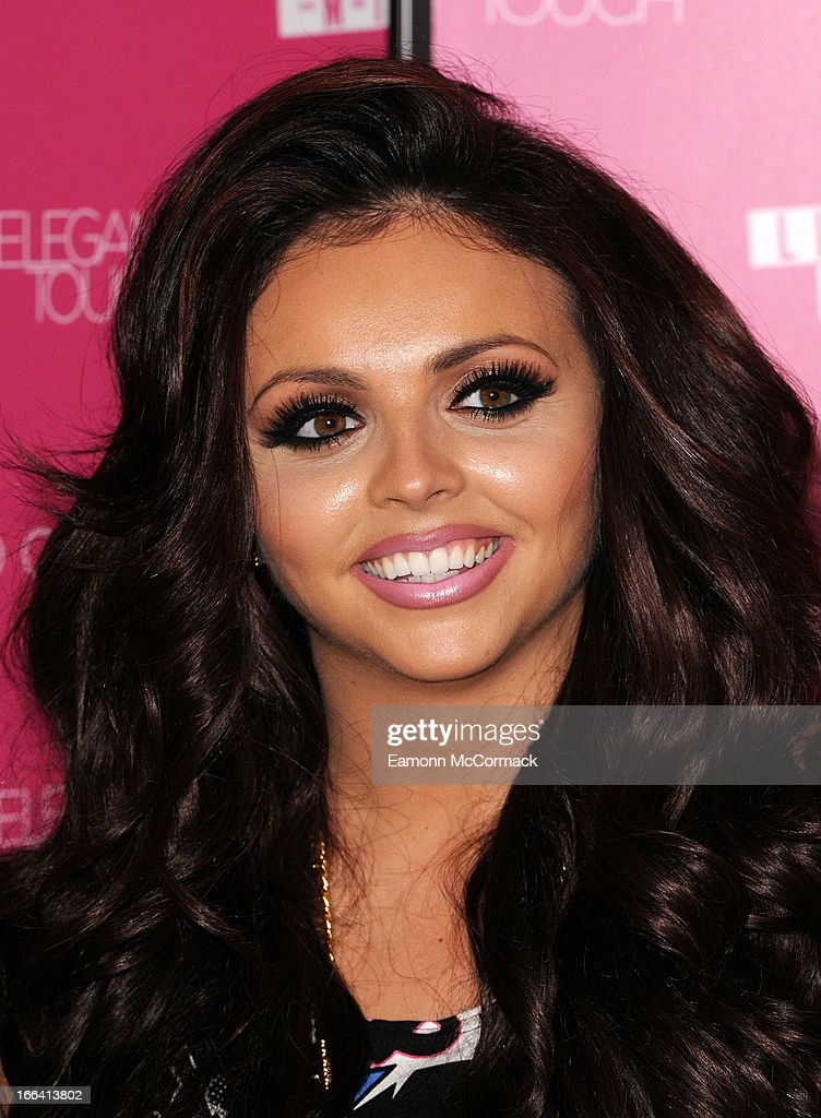 Jesy Nelson of Little Mix poses at a photocall to launch their collection of press on nails for New Look at Westfield on April 12, 2013 in London, England.