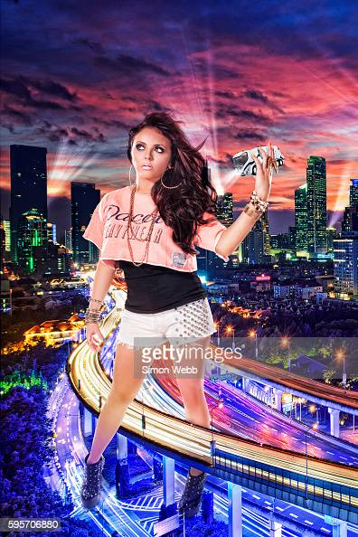 Jesy Nelson of pop band Little Mix is photographed for We Love Pop magazine on June 26 2012 in London England