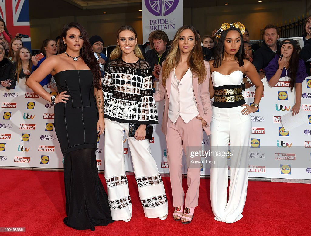 Jesy Nelson Perrie Edwards Jade Thirlwall and LeighAnne Pinnock of Little Mix attend the Pride of Britain awards at The Grosvenor House Hotel on...