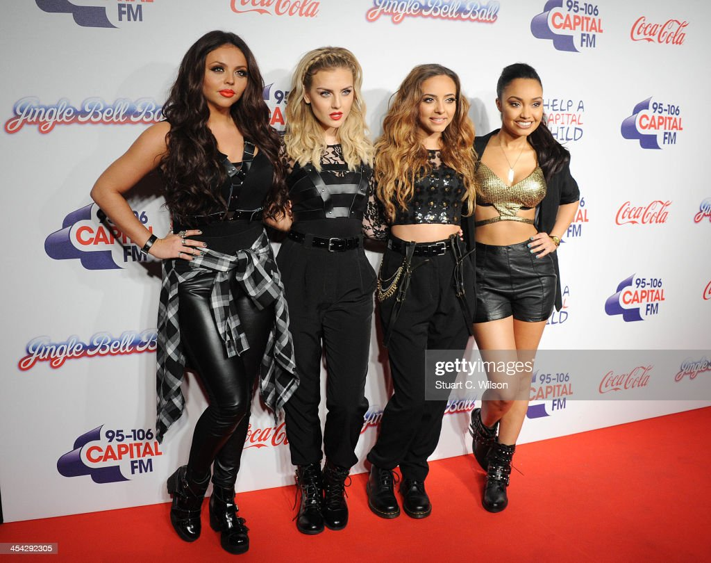<a gi-track='captionPersonalityLinkClicked' href=/galleries/search?phrase=Jesy+Nelson+-+Little+Mix&family=editorial&specificpeople=8378192 ng-click='$event.stopPropagation()'>Jesy Nelson</a>, <a gi-track='captionPersonalityLinkClicked' href=/galleries/search?phrase=Perrie+Edwards&family=editorial&specificpeople=8378323 ng-click='$event.stopPropagation()'>Perrie Edwards</a>, Jade Thirwall and <a gi-track='captionPersonalityLinkClicked' href=/galleries/search?phrase=Leigh-Anne+Pinnock&family=editorial&specificpeople=8378207 ng-click='$event.stopPropagation()'>Leigh-Anne Pinnock</a> from 'Little Mix' attend on day 2 of the Capital FM Jingle Bell Ball at 02 Arena on December 8, 2013 in London, England.