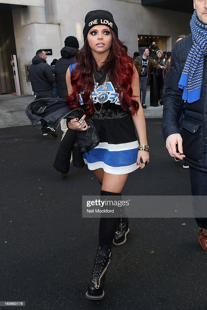 Jesy Nelson seen at BBC Radio One as part of their Comic Relief Day on March 14, 2013 in London, England.