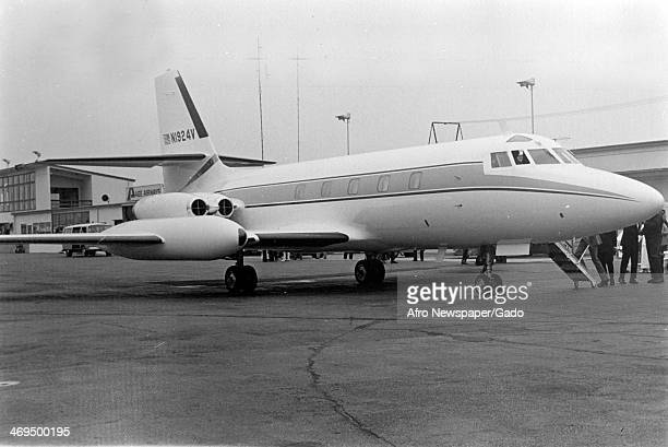 A jet aeroplane purchased for Elijah Muhammad leader of the Nation of Islam August 27 1974