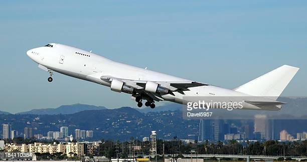 Jet airplane taking off