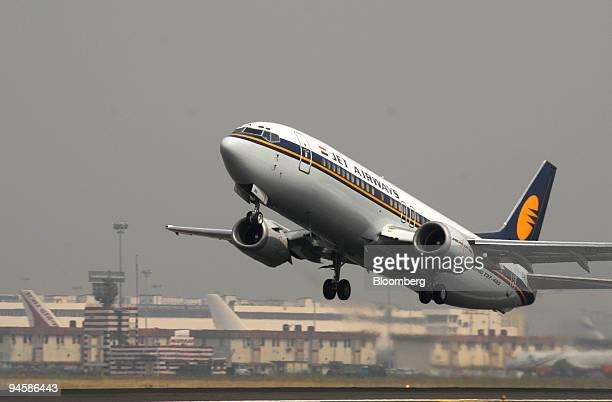 Jet Airways Ltd aircraft takes off at Mumbai Airport on Monday Jan 29 2007