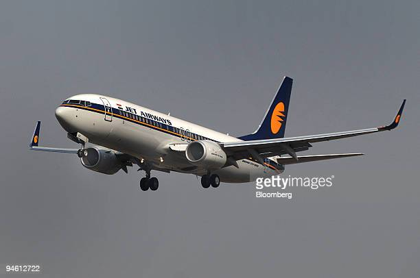 Jet Airways Ltd plane prepares to land at Mumbai International Airport on Sunday Jan 21 2007 Jet Airways Ltd the nation's biggest domestic airline...