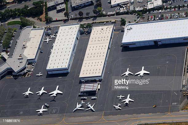 jet center aerial view San Jose, California