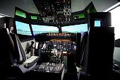 Flight simulator instruments cockpit