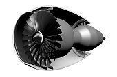3D jet engine - cross-section - great for topics like aviation, engineering, planes etc.
