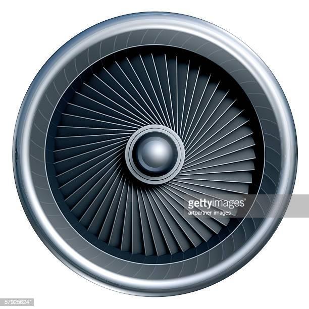 Jet engine isolated