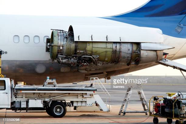 Flugzeugtriebwerk Wartungsarbeiten geschlossen