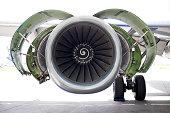 Jet Turbine on airplane
