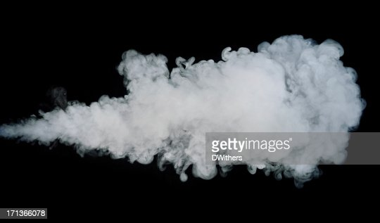Jet of Smoke Isolated on Black