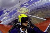 Jet Pilot Performing Maneuver