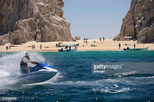 Jet skiing at Lovers Beach in Cabo, San Lucas