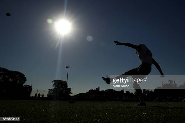 Jet Toner during a Stanford University training session at Moore Park on August 22 2017 in Sydney Australia