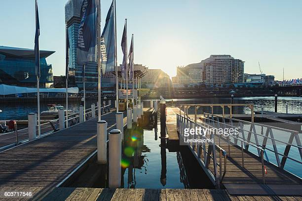 Jet wharf in darling harbour.