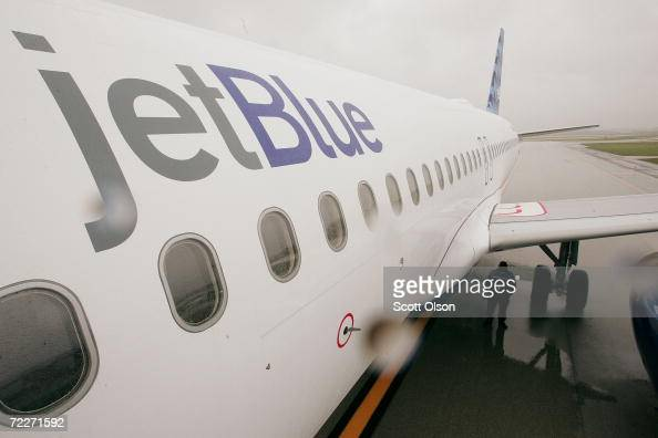 JetBlue Airways jet sits on the tarmac at O'Hare Airport October 26 2006 in Chicago Illinois JetBlue today announced the start of service to the city...