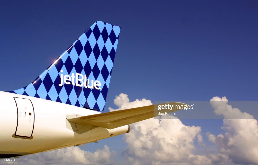 JetBlue Airways jet sits on the tarmac June 19 2001June 19 2001 at the Ft Lauderdale/Hollywood International airport in Ft Lauderdale Florida The...