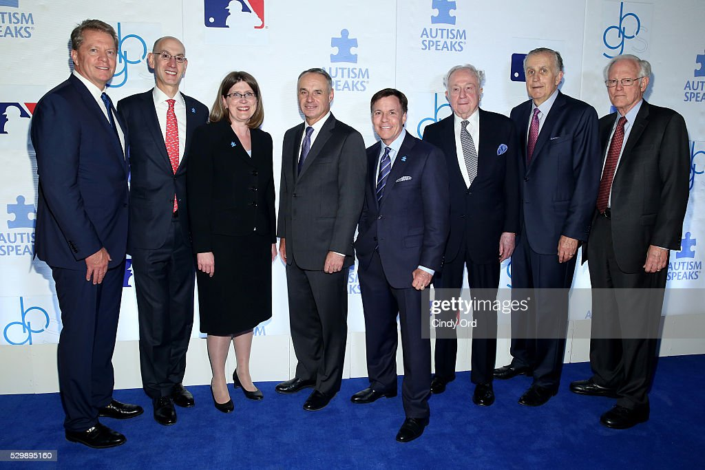 JetBlue board member Dave Checketts commissioner of NBA Adam Silver president and CEO of Autism Speaks Angela Geiger commissioner of MLB Rob Manfred...