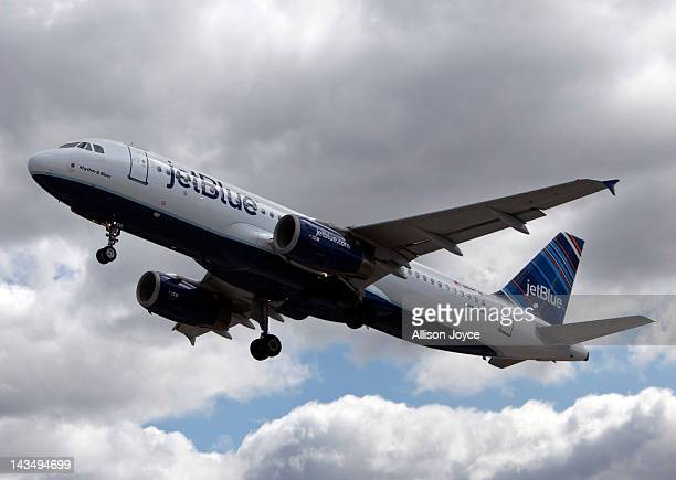 JetBlue plane is seen at John F Kennedy International Airport April 27 2012 in the Queens borough of New York City