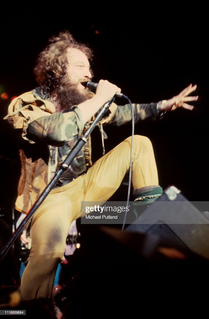 Jethro Tull perform on stage at Wembley Arena, London, 13th May 1982, <a gi-track='captionPersonalityLinkClicked' href=/galleries/search?phrase=Ian+Anderson&family=editorial&specificpeople=615834 ng-click='$event.stopPropagation()'>Ian Anderson</a>.