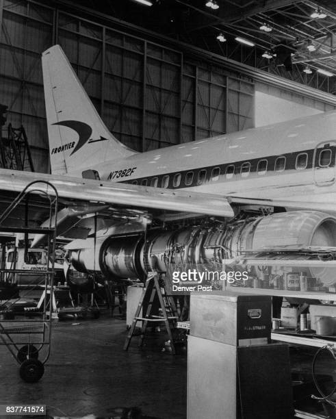 Jetliner No 382F is stripped as 600 hours of manpower go into what is called a 'heavy check' by Frontier Airlines to insure it remains safe Credit...