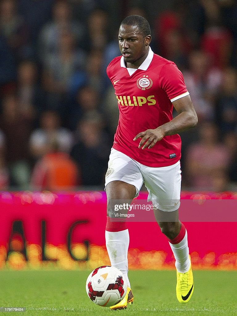 Jetro Willems of PSV during the Dutch Eredivisie match between PSV and SC Cambuur at Philips stadium on August 31, 2013 in Eindhoven, The Netherlands.
