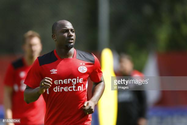 Jetro Willems of PSV during the preseason summer training camp of PSV Eindhoven at Stade StMarc on July 11 2017 in Bagnes Switzerland