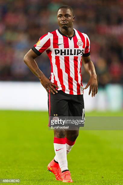 Jetro Willems of PSV Eindhoven in action during the UEFA Europa League match between PSV Eindhoven and Estoril Praia at the Philips Stadium on...