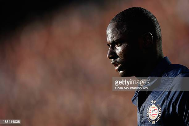Jetro Willems of PSV gets ready to take a throw in during the Dutch Cup final between PSV Eindhoven and AZ Alkmaar at De Kuip on May 9 2013 in...