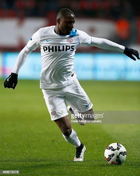 Jetro Willems of PSV in action during the Dutch Eredivisie match between FC Twente and PSV Eindhoven held at De Grolsch Veste Stadium on April 4 2015...