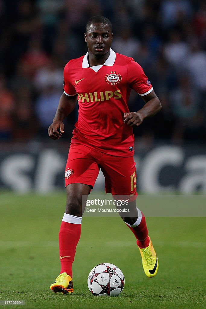 Jetro Willems of PSV in action during the UEFA Champions League Play-off First Leg match between PSV Eindhoven and AC Milan at PSV Stadion on August 20, 2013 in Eindhoven, Netherlands.