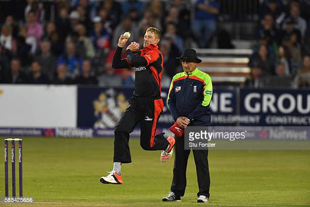 Jets bowler Keaton Jennings in action during the NatWest T20 Blast quarterfinal match between Gloucestershire and Durham Jets at Bristol County...