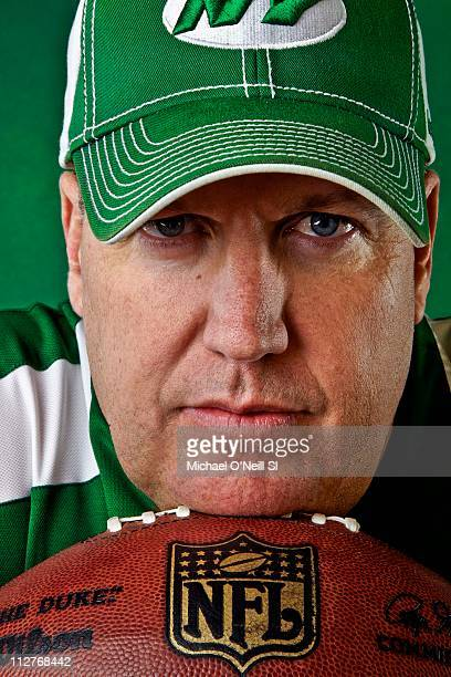 Jets coach Rex Ryan is photographed for Sports Illustrated on April 06 2011 at the Atlantic Health Jets Training Center in Florham Park New Jersey...