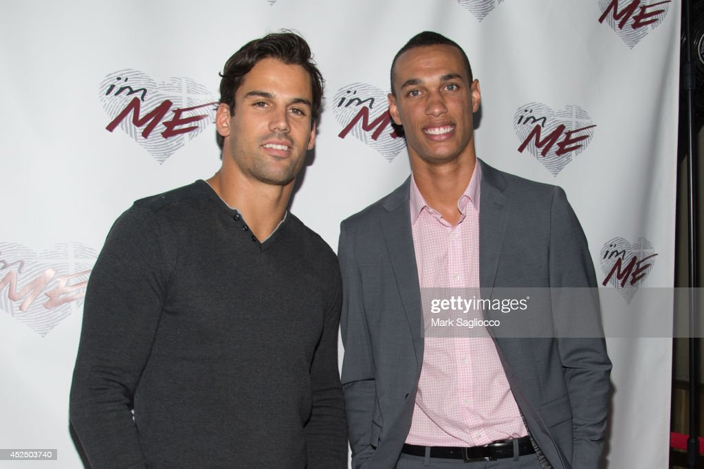 NY Jets Football Players Eric Decker and David Nelson attend i'mME Launch Event at Hotel Chantelle on July 21, 2014 in New York City.