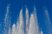 Jets of water from a big fountain