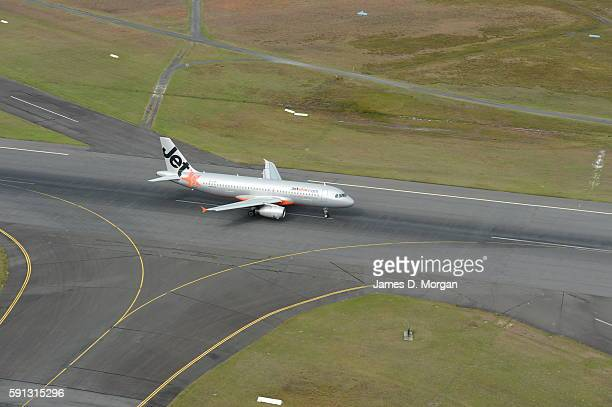 Jetstar Aircraft Landing in Gold coast airport on August 10th 2012 in Gold Coast Australia