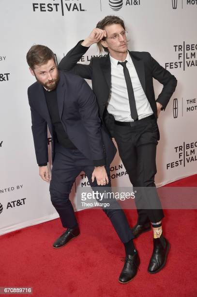 Jett Steiger and director Kevin Phillips attend the 'Super Dark Times' Premiere during 2017 Tribeca Film Festival at Cinepolis Chelsea on April 20...