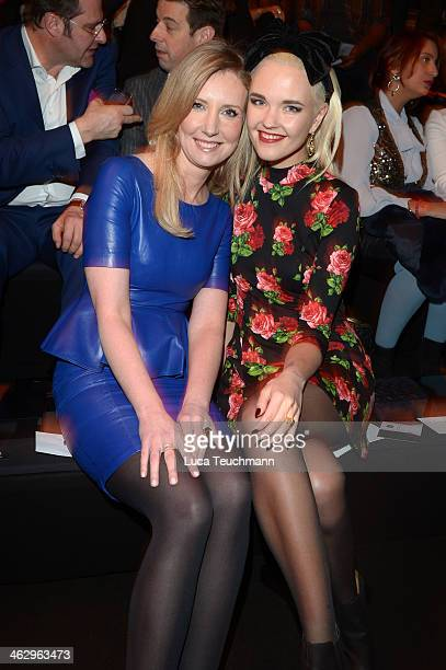 Jette Joop and Bonnie Strange attend the Glaw show during MercedesBenz Fashion Week Autumn/Winter 2014/15 at Brandenburg Gate on January 16 2014 in...