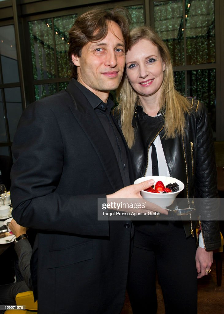 Jette Joop and Christian Elsen attend the Grazia Pop Up Casino during the Mercedes Benz Fashion Week Autumn/Winter 2013/14 at the Restaurant Uma on January 16, 2013 in Berlin, Germany.