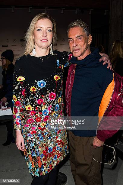 Jette Joop and her father Wolfgang Joop attend the Vladimir Karaleev show during the MercedesBenz Fashion Week Berlin A/W 2017 at Kaufhaus Jandorf on...