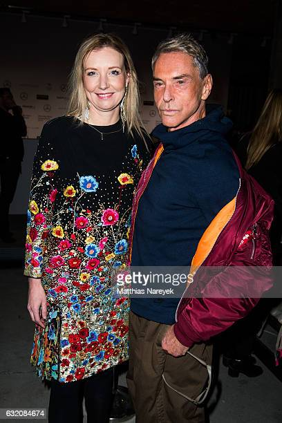 Jette Joop and Wolfgang Joop attend the Vladimir Karaleev show during the MercedesBenz Fashion Week Berlin A/W 2017 at Kaufhaus Jandorf on January 19...