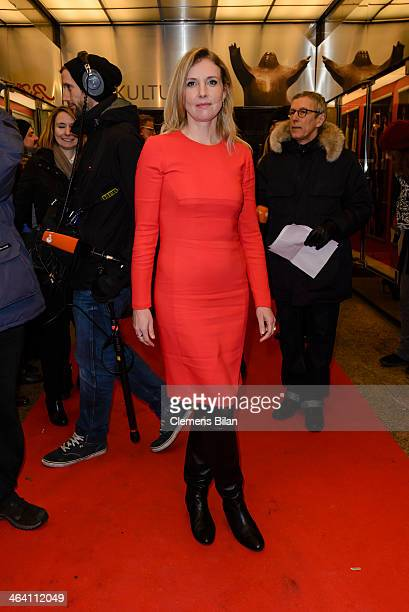Jette Joop arrives at the red carpet of the BZ Kulturpreis at Theater am Kurfuerstendamm on January 20 2014 in Berlin Germany