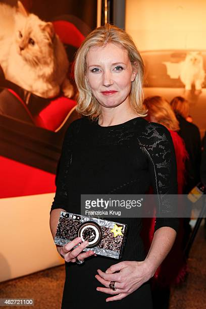 Jette Joop attends the 'Corsa Karl Und Choupette' Vernissage on February 03 2015 in Berlin Germany