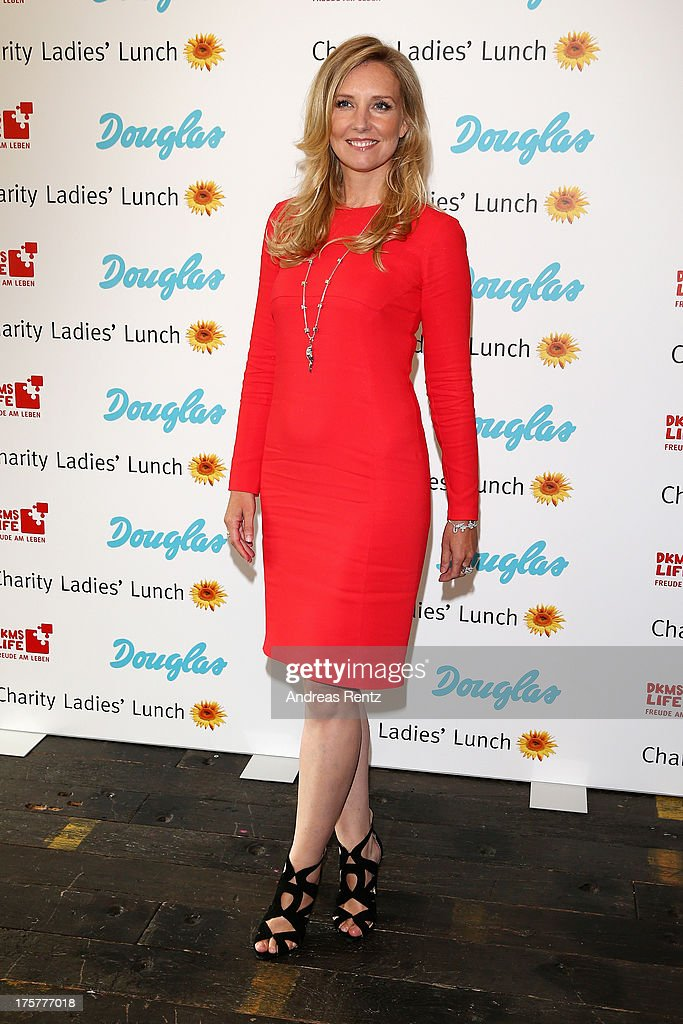 Jette Joop attends the DKMS LIFE Charity Ladies lunch at Soho House on August 8, 2013 in Berlin, Germany.