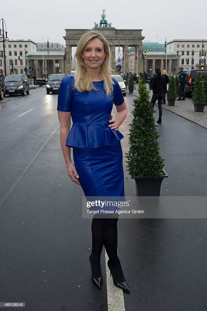 Jette Joop attends the Glaw show during Mercedes-Benz Fashion Week Autumn/Winter 2014/15 at Brandenburg Gate on January 16, 2014 in Berlin, Germany.