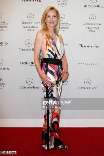Jette Joop attends the Laurel show during the MercedesBenz Fashion Week Spring/Summer 2015 at Erika Hess Eisstadion on July 10 2014 in Berlin Germany