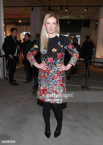 Jette Joop attends the Vladimir Karaleev show during the MercedesBenz Fashion Week Berlin A/W 2017 at Kaufhaus Jandorf on January 19 2017 in Berlin...